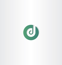 dark green letter d logotype icon element vector image