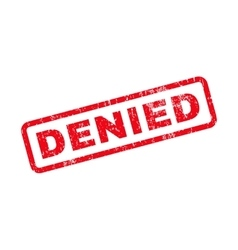 Denied Text Rubber Stamp vector