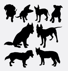 Dog pet animal silhouette 11 vector image