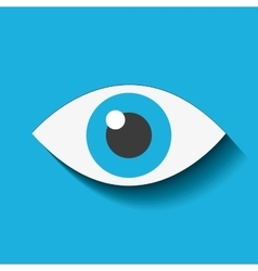 eye view security icon vector image