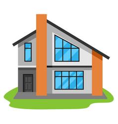 facade modern luxury house vector image
