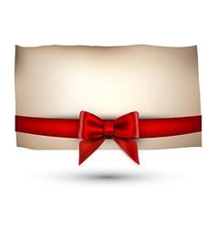 Festive card with bow vector