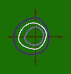 Flat shading style icon chart thin circles vector