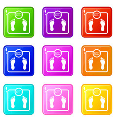 floor scales set 9 vector image