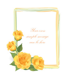Floral greeting card with flower rose frame vector