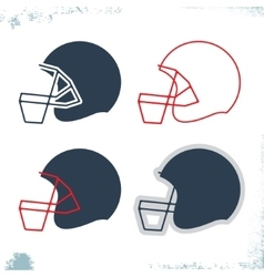 Football helmet icon vector image