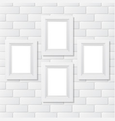 Four picture frames brick vector