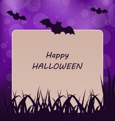 Halloween Greeting Card Dark Background vector image