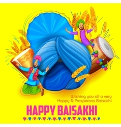 Happy baisakhi background vector