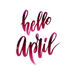 Hello april quote vector