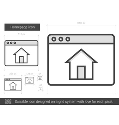 Homepage line icon vector image
