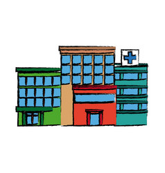 Hospital building high detailed medicine vector