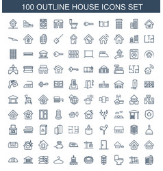 house icons vector image
