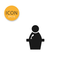 human speaker icon isolated flat style vector image