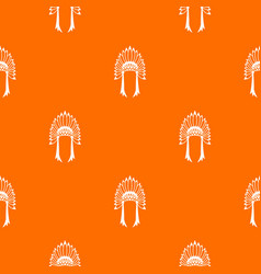 Indian headdress pattern seamless vector