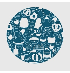 Kitchen background vector