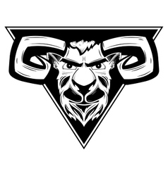 Logo with the image of a ram vector