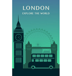 london city england silhouette vector image