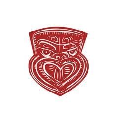 Maori mask etching vector
