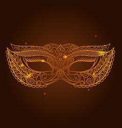 Masquerade carnival mask vector