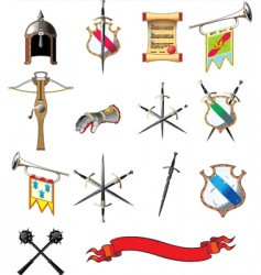 medieval icons vector image