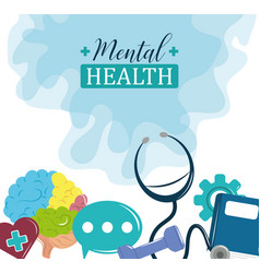 Mental health day problem psychology medical vector