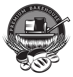 monochrome template for the emblem with baking vector image