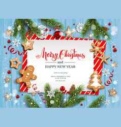 new festive invitation vector image
