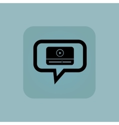Pale blue mediaplayer message icon vector image