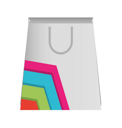 paper bag with lines colored vector image