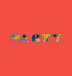 Party concept word art vector