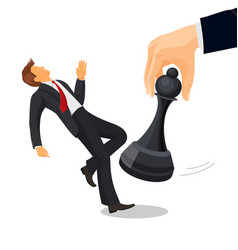 pawn chess piece of smallest size and value vector image