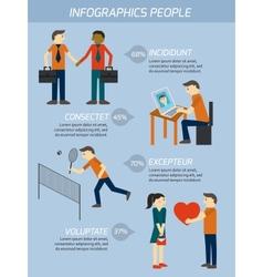 People relations infographics elements vector