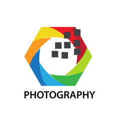 pixel photo logo vector image