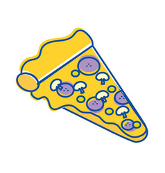 Pizza fast food icon vector