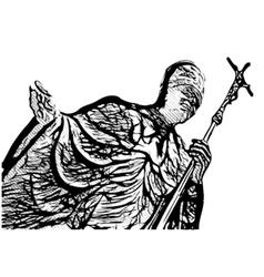 Pope john paul second vector