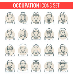 Professions flat icons vector