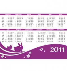Rabbit calendar vector