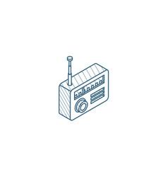 radio receiver station isometric icon 3d line art vector image