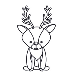 Reindeer cartoon of Christmas season design vector image