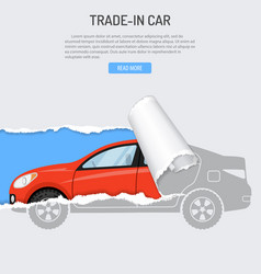 Rent trade-in buying car banner vector