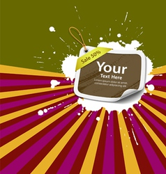 Sale Price tag colorful background vector