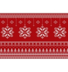 Scandinavian Merry Christmas style seamless vector