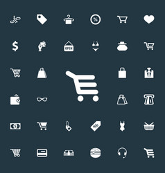 Set of simple sale icons vector