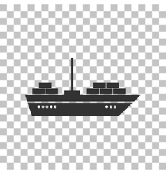 Ship sign Dark gray icon on vector image