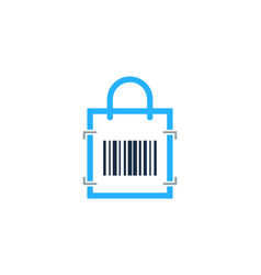 shop barcode logo icon design vector image