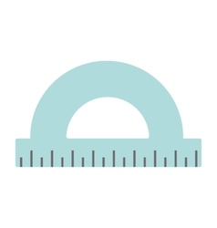Silver protractor on white background vector