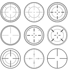 Sniper Scope Target Ink Set vector