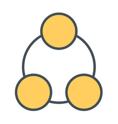 social network line icon symbol in outline style vector image