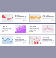 statistics and analytics infographics card vector image